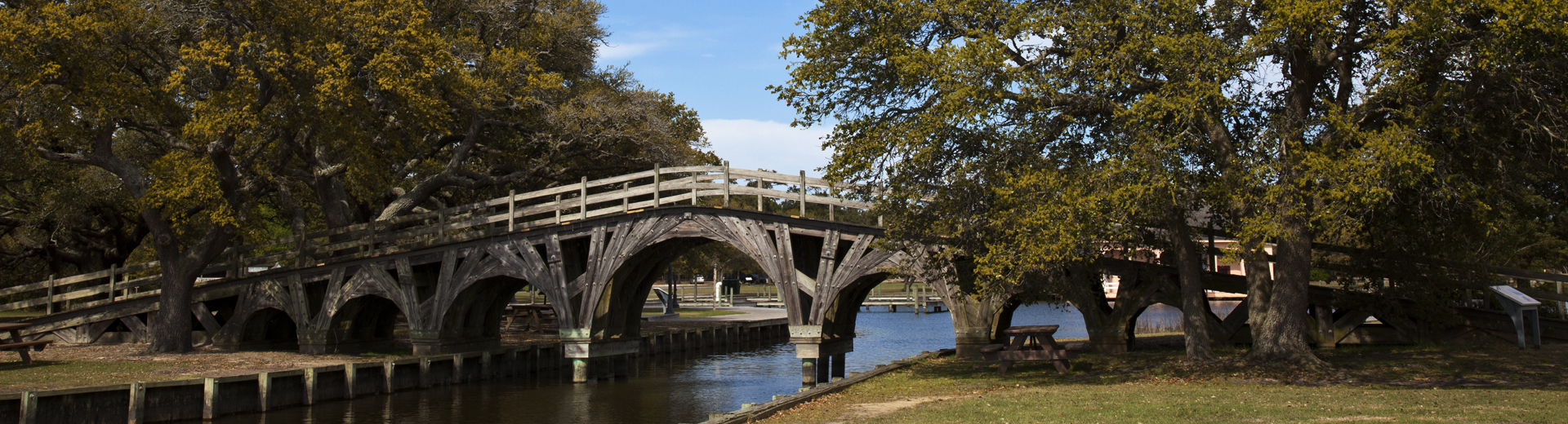 historic footbridge in corolla